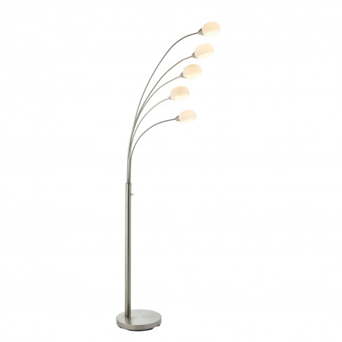 Floor Lamp With 5 Lights & Glass Shades - Jaspa