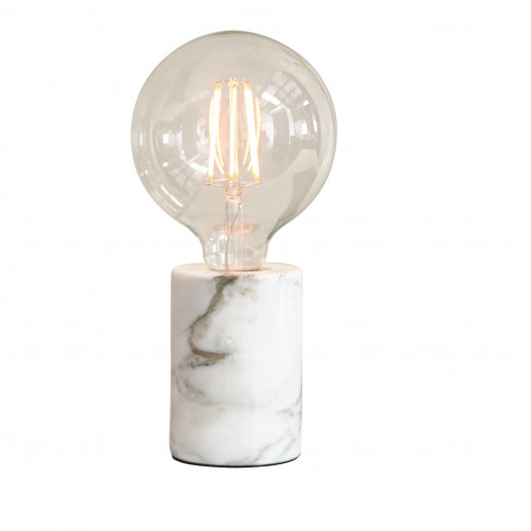 Table Lamp With White Marble Base - Otto