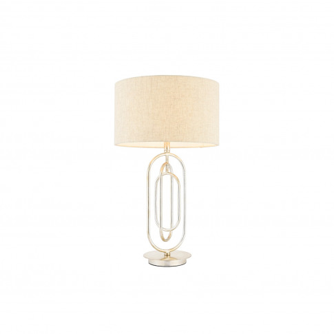 Meera Antique Silver Table Lamp