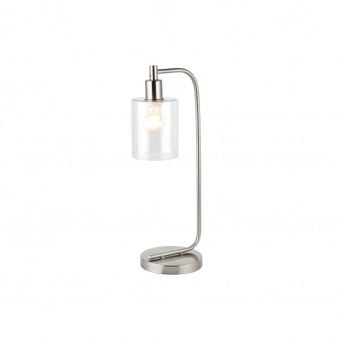 Toledo Chrome And Glass Table Lamp