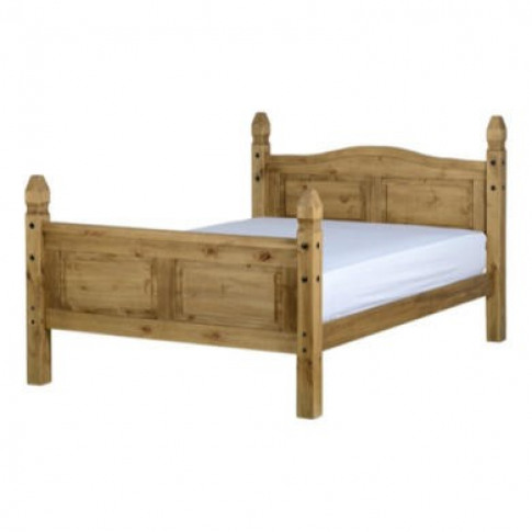 Seconique Corona King Size Bed Frame In Distressed W...