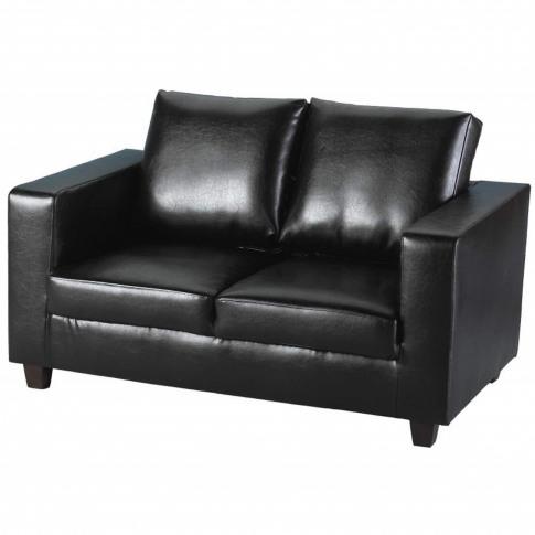 Seconique Tempo 2 Seater Sofa In Black