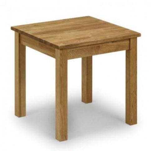 Julian Bowen Coxmoor Solid Oak Square Side Table