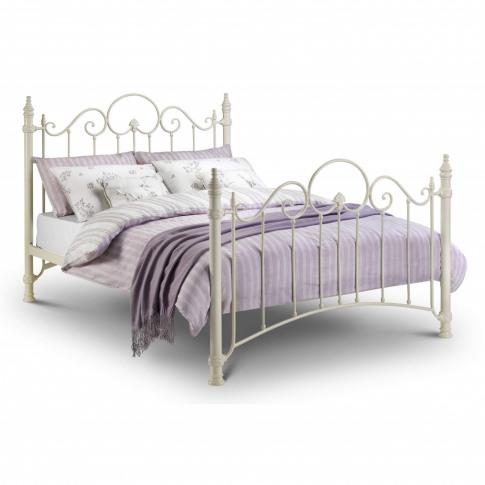 Julian Bowen Florence Metal Double Bed Frame In White