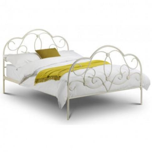 Julian Bowen Arabella Double Bed In Stone White