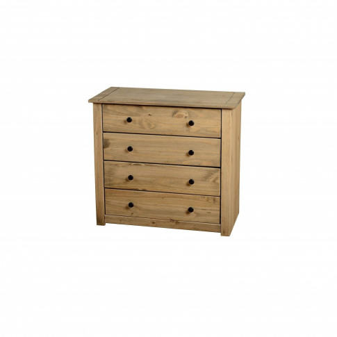 Seconique Panama Solid Pine 4 Drawer Chest Of Drawers