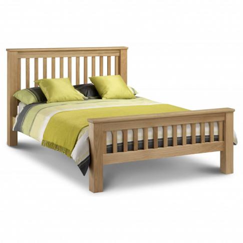 Julian Bowen Amsterdam Solid Oak King Size Bed Frame