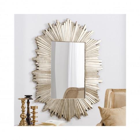 Herzfeld Rectangular Pale Gold Wall Hanging Mirror