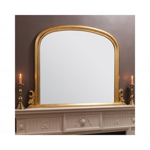 Gold Frame Overmantel Mirror