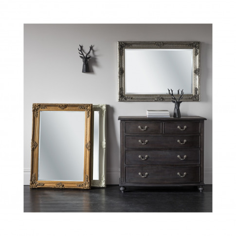 Gallery Abbey Rectangle Mirror Silver