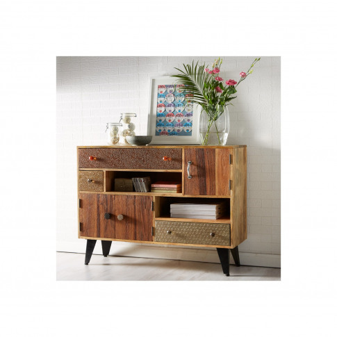 Sorio Handcrafted Multi Drawer Reclaimed Wood Sideboard