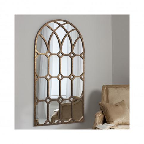 Khadra Gold Window Mirror