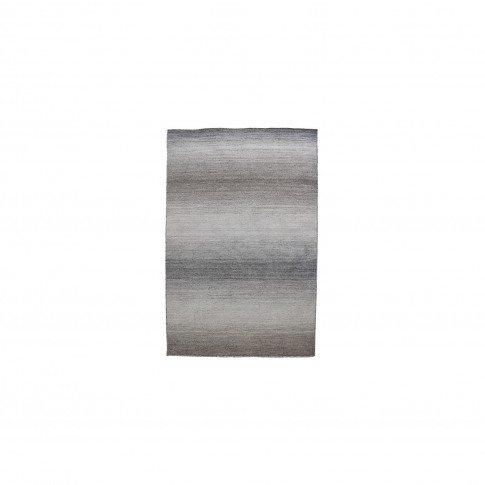 Hand Crafted Grey & Taupe Rug - 120 X 170 Cm