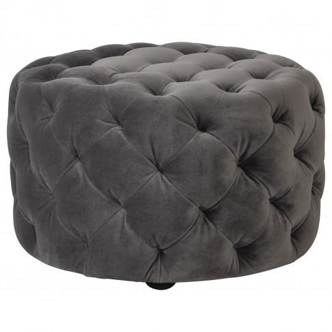 Gallery Sergio Grey Velvet Footstool