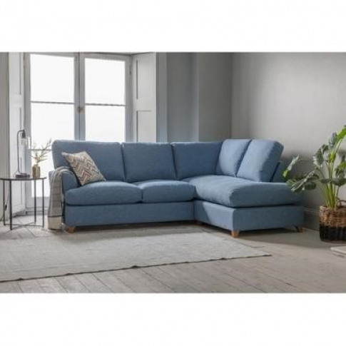 Gallery Charlford Blue Corner Sofa Bed - Right Hand