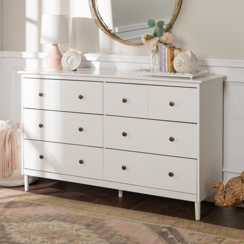 Foster Modern 6 Drawer Chest Of Drawers In White