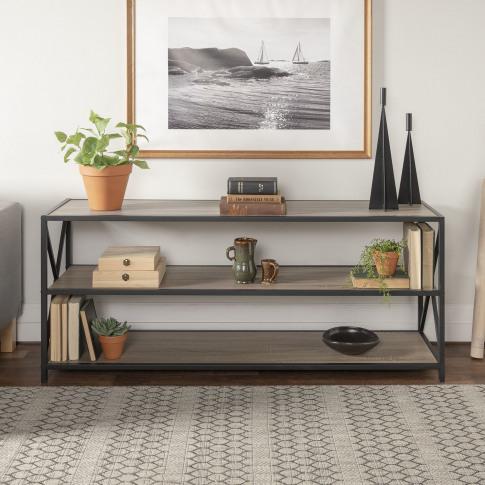 Oak Effect Industrial Bookcase - Foster