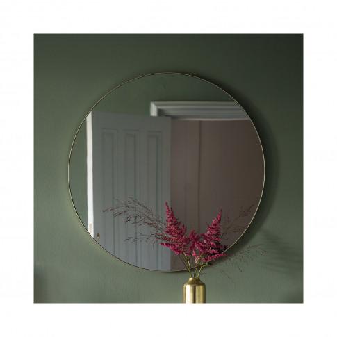 Gallery Bowie Round Mirror Champagne