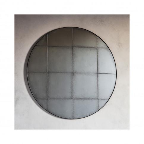 Round Mirror With Vintage Effect