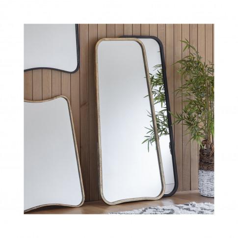 Kurva Black Leaner Mirror - Caspian House