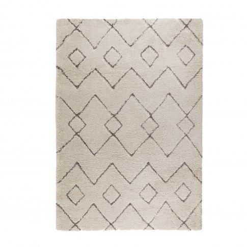 Cream & Dark Grey Rug 120x170cm - Flair Imari