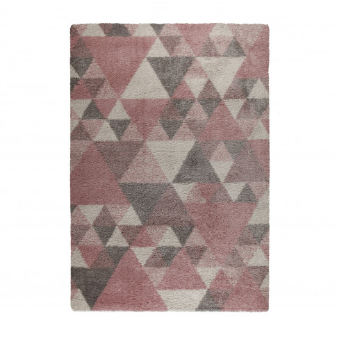 Pink Cream & Grey Rug 120x170cm - Flair Nuru