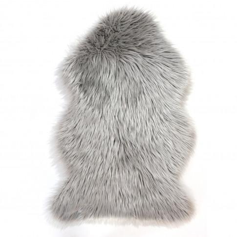 Grey Faux Sheepskin Rug 60x90cm - Flair