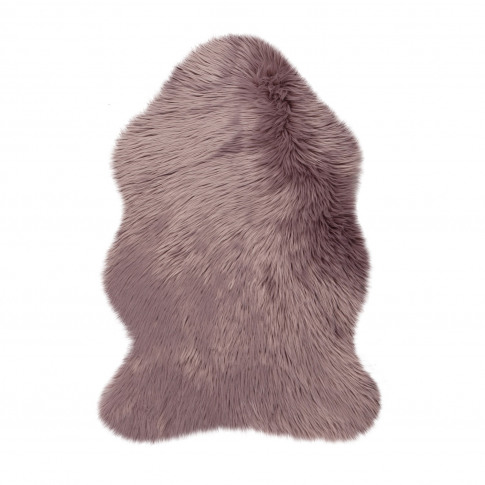 Mauve Faux Sheepskin Rug 60x90cm - Flair
