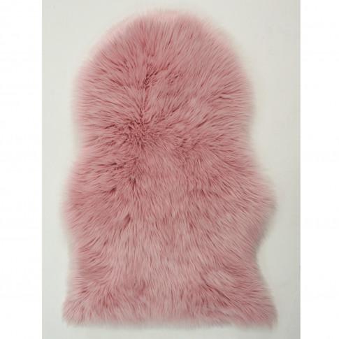 Pink Faux Sheepskin Rug 60x90cm - Flair