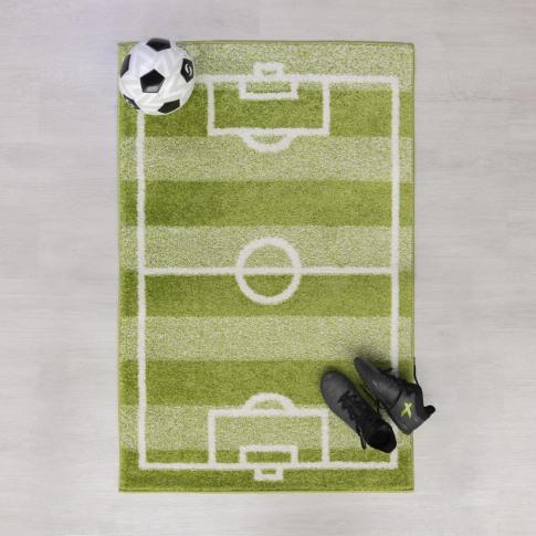 Football Pitch Green Kids Rug 80x120cm - Flair