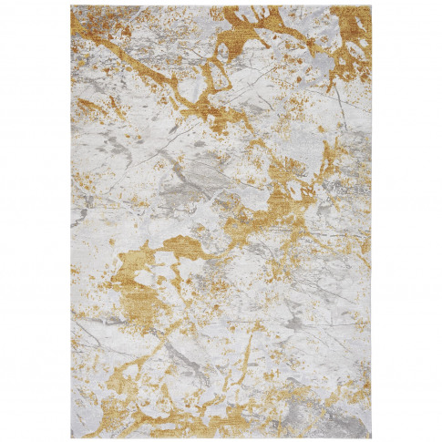 Astral Yellow Rug With Marble Effect - 120x180cm