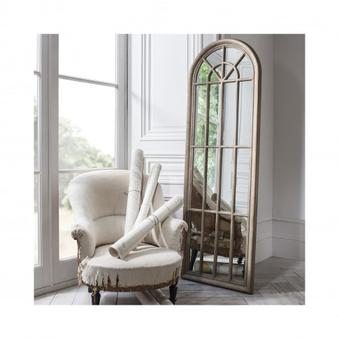 Curtis Mirror With Brown Wooden Frame - Caspian House