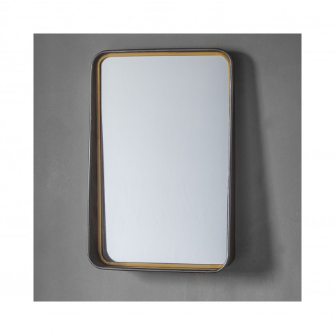 Wall Mirror With Two Tone Finish - Earl