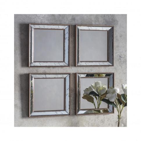 4 Square Mirrors - Bambra