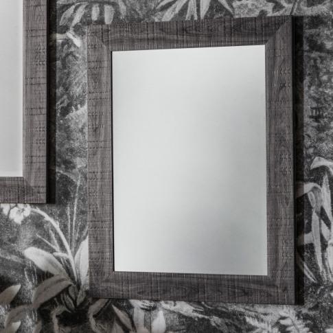 Wall Mirror With Grey Frame - Deacon