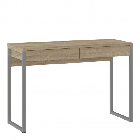 Oak Desk With 2 Drawers & Metal Legs - Function