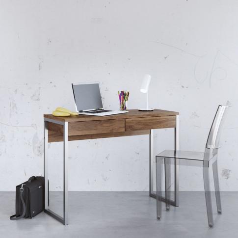 Office Desk In Dark Wood & 2 Drawers - Function
