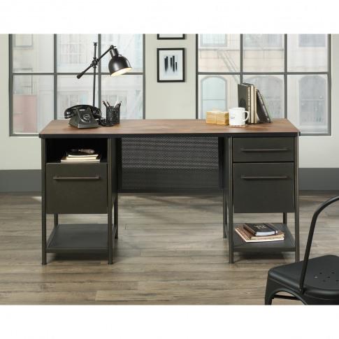 Teknik Office Boulevard Caf Desk With Black Finish