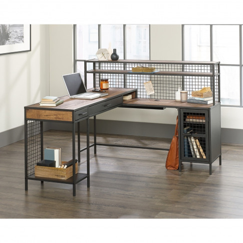 Teknik Office Boulevard L Shaped Desk With Black Finish