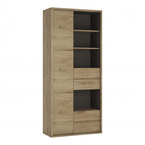 Shetland Tall Wide 1 Door 4 Drawer Storage Cabinet