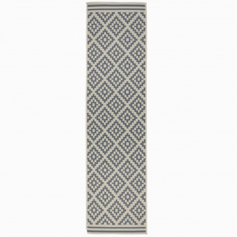 Moretti Beige And Anthracite Runner Rug - 60 X 230 C...