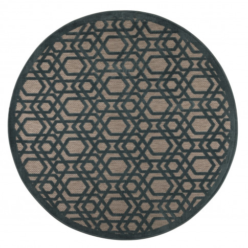 Piatto Oro Blue Indoor/Outdoor Round Rug 160 X 160 C...