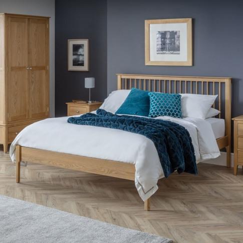 Julian Bowen Solid Oak Double Bed Frame - Cotswold
