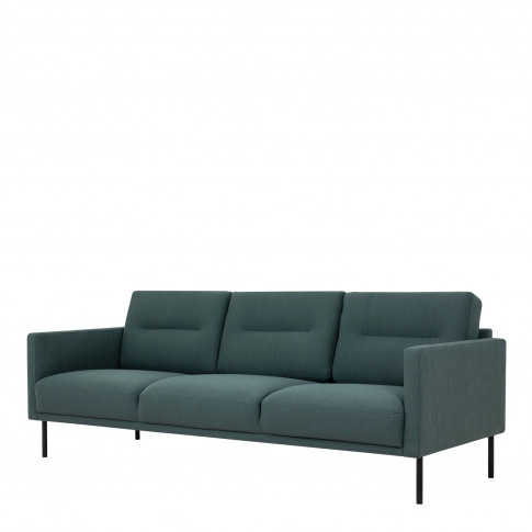 Dark Green Fabric 3 Seater Sofa - Kyle
