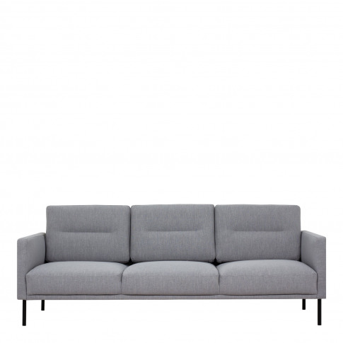 Light Grey Fabric 3 Seater Sofa - Kyle