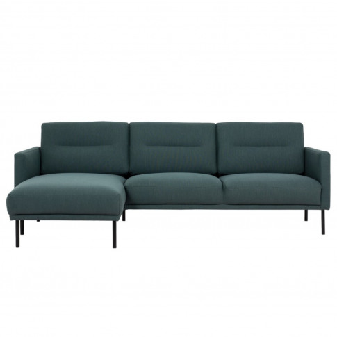 Dark Green Fabric Corner Sofa Left Hand - Kyle