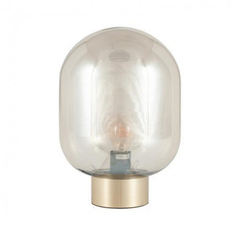 Glass Bulb Table Lamp With Gold Base