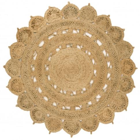 Zira Hand Woven Round Natural Jute Rug 150x150cm