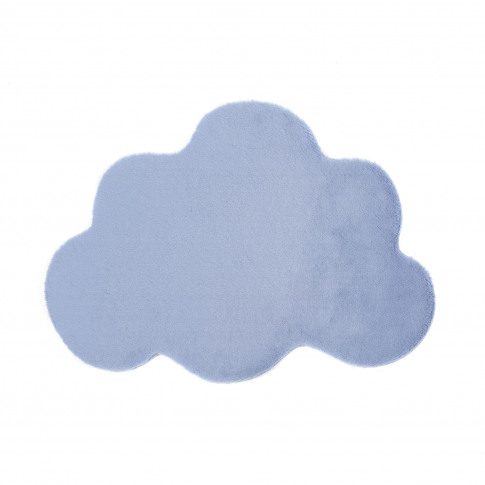 Ripley Blue Faux Fur Cloud Rug 80x110cm