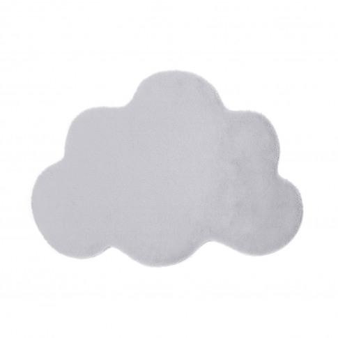 Ripley Silver Faux Fur Cloud Rug 80x100cm